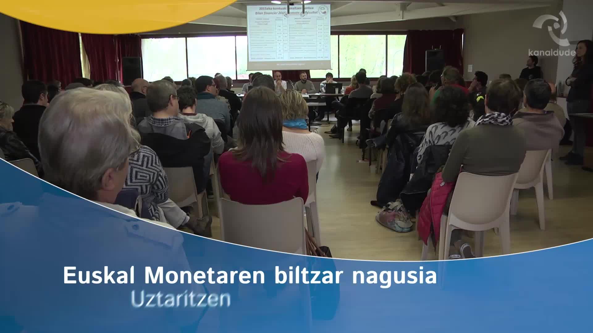 Euskal monetaren 2016ko biltzar nagusia