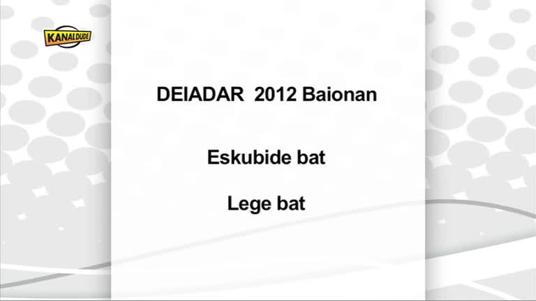 Deiadar 2012 : manifestaldi eguna