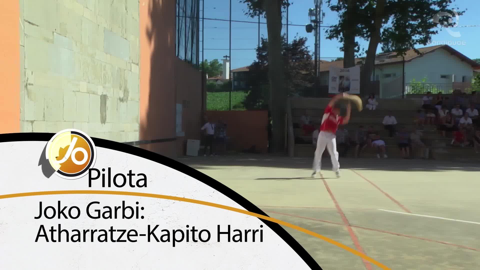 JO PILOTA: Joko Garbi Atharratze-Kapito Harri