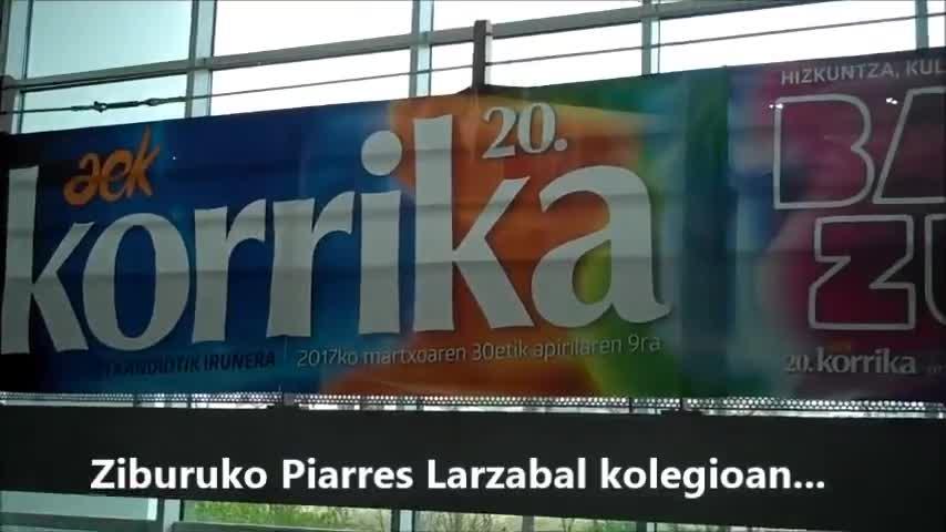 Zorionak Korrika! Piarres Larzabal kolegioaren partez