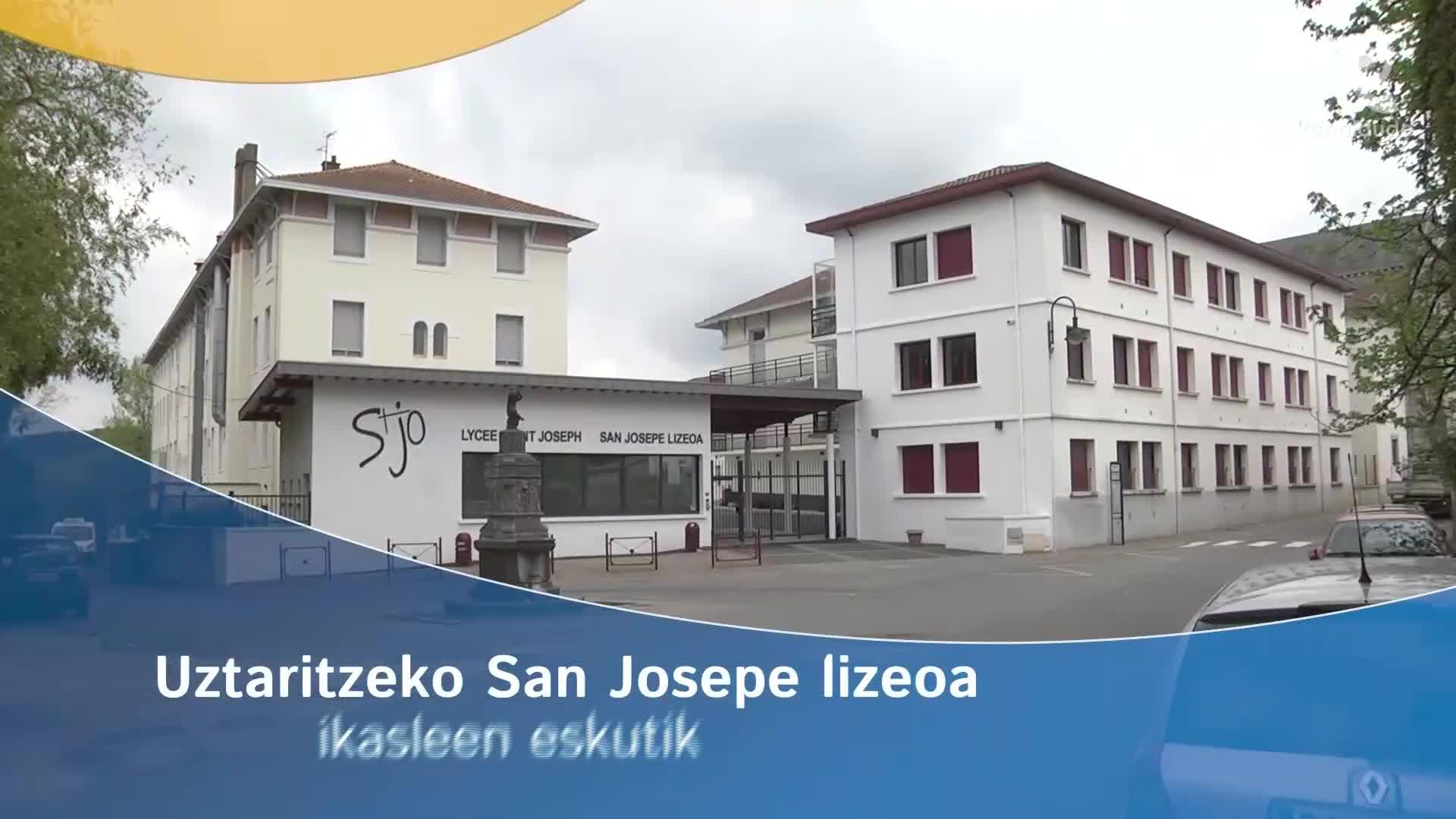 Uztaritzeko San Josepe lizeoa ikasleen eskutik