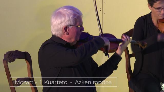 Bunuze Inxausetan -  Musika klasiko kontzertua - Mozart - 1 kuarteto - Azken rondoa