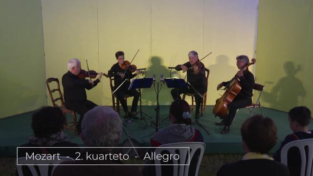 Bunuze Inxausetan -  Musika klasiko kontzertua - Mozart - 2 kuarteto - Alegro