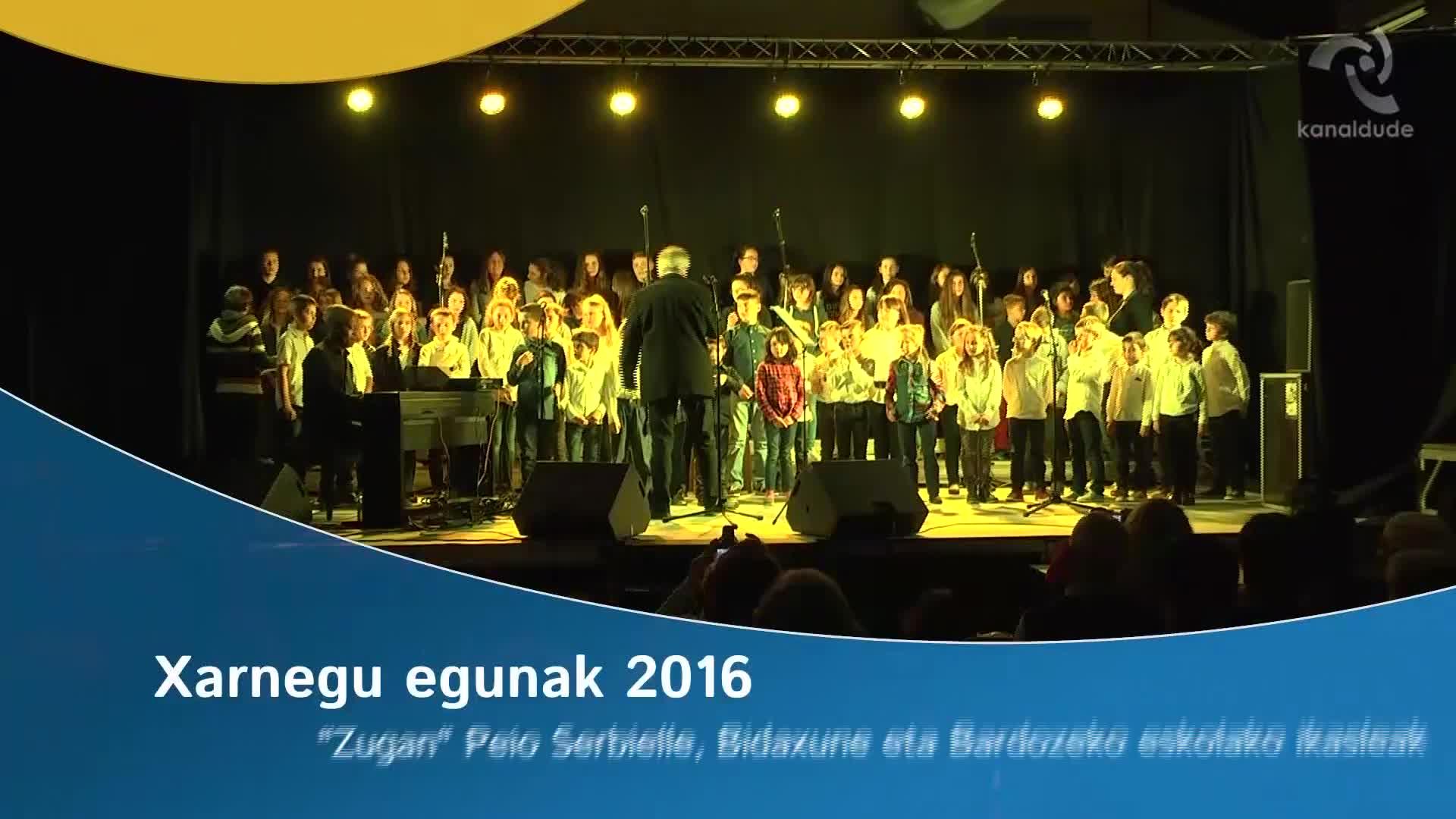 """Xarnegu egunak 2016: """"Zugan"""" kantua"""