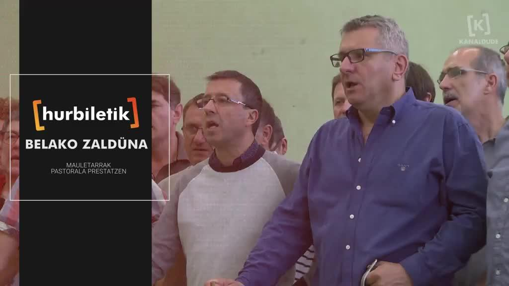 """Belako zaldüna"" pastorala prestatzen"